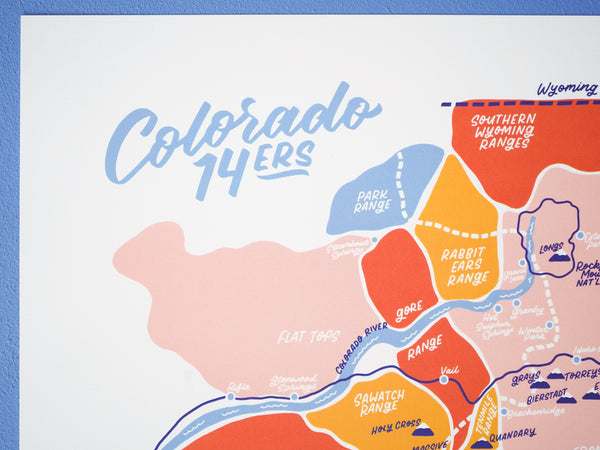 Colorado Fourteeners Map