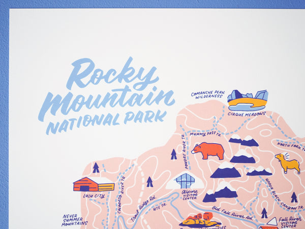 Rocky Mountain Nat'l Park Map