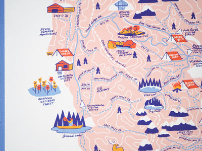 Rocky Mountain Nat'l Park Map - 11x14""