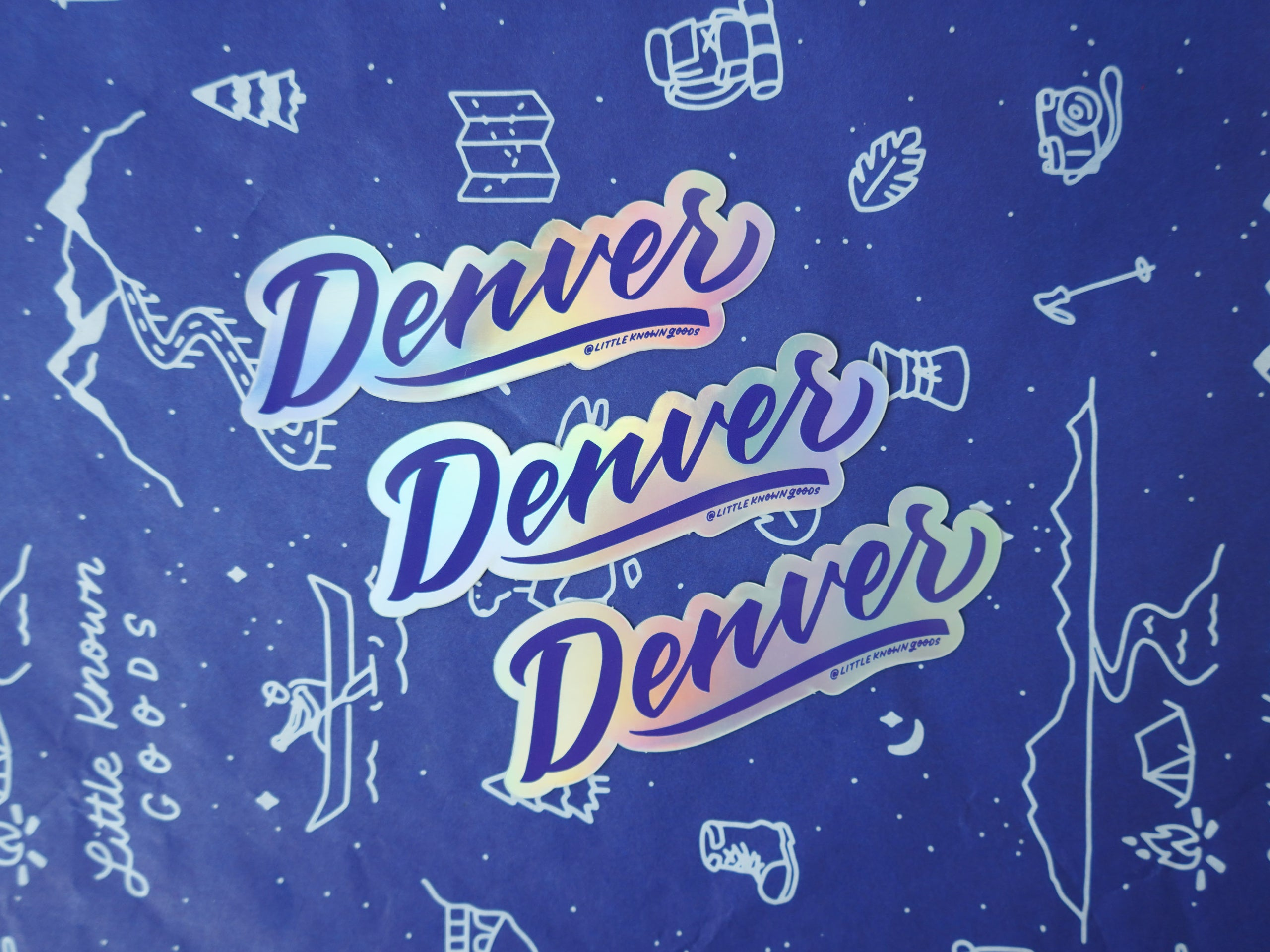Denver Holographic Sticker