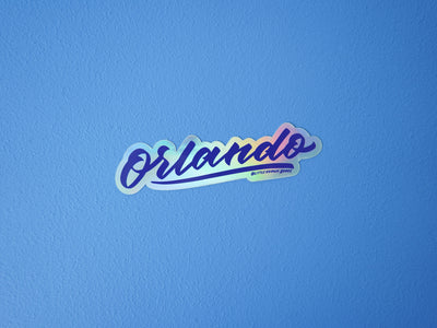 Orlando Holographic Sticker