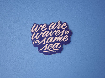 Waves of the Same Sea Sticker
