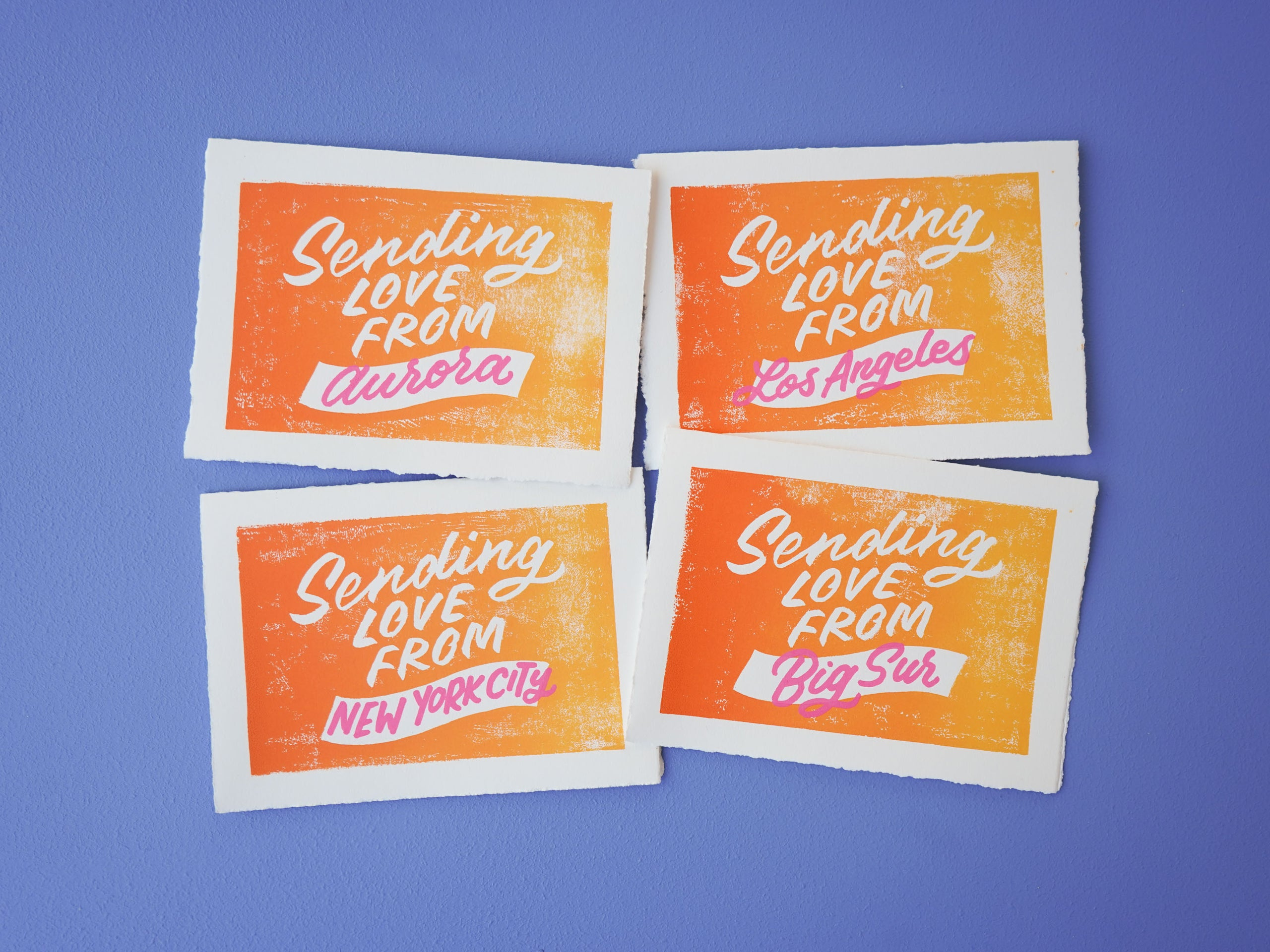 Sending Love 4-pack of customizable cards