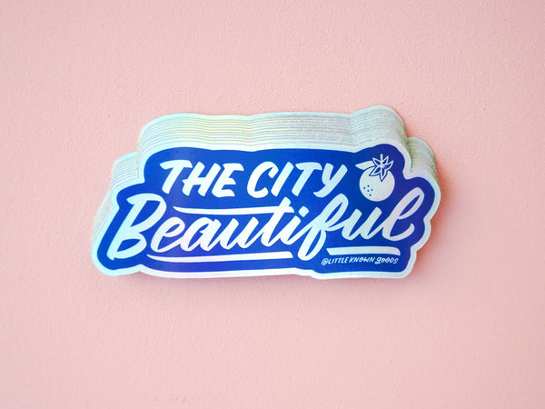 City Beautiful Holographic Sticker