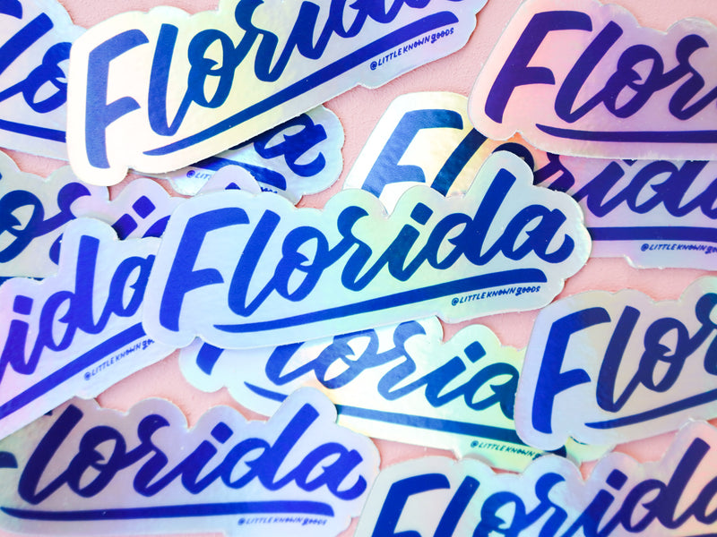 Florida Holographic Sticker