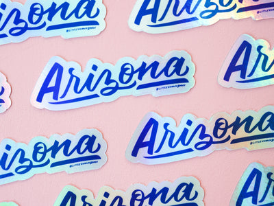 Arizona Holographic Sticker
