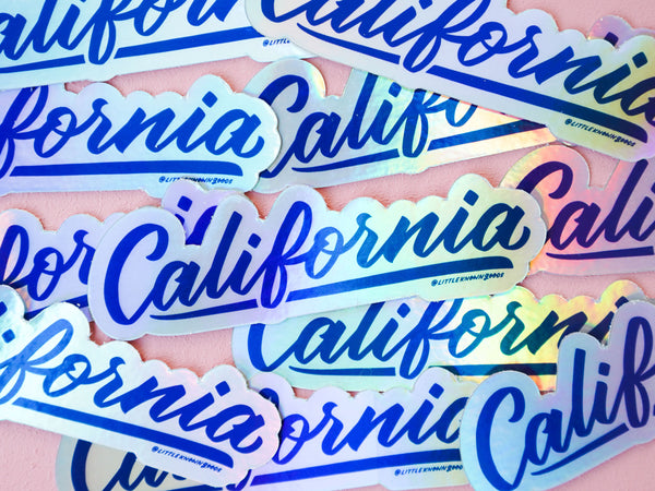 California Holographic Sticker