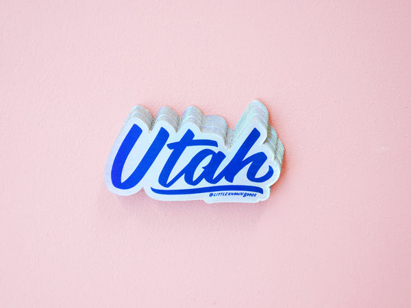 Utah Holographic Sticker
