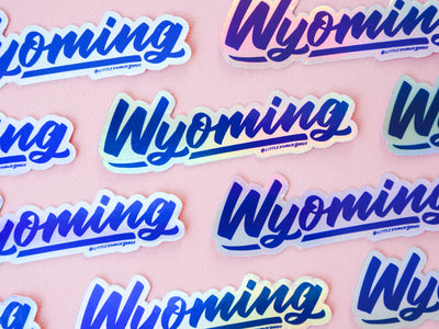 Wyoming Holographic Sticker