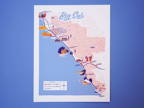 Big Sur Map - 11x14