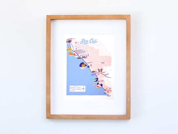 Big Sur Map - 11x14""