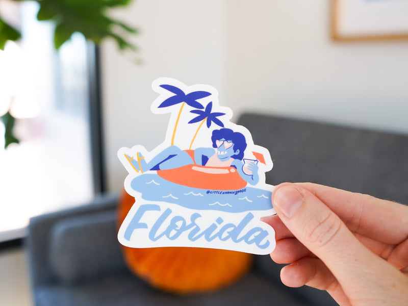 Florida Float Sticker
