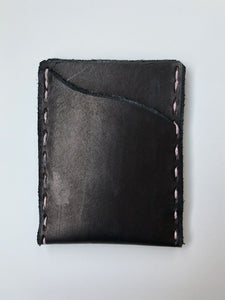 Hand lettered, personalized PRB Leather Co. wallet