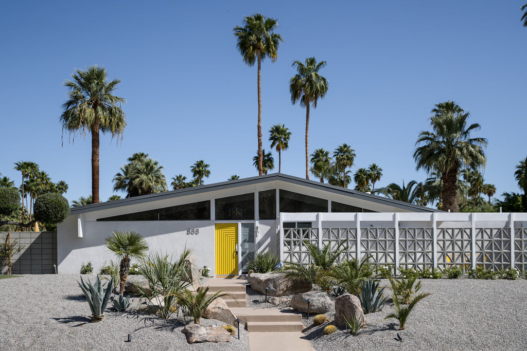 Palm Springs home yellow door