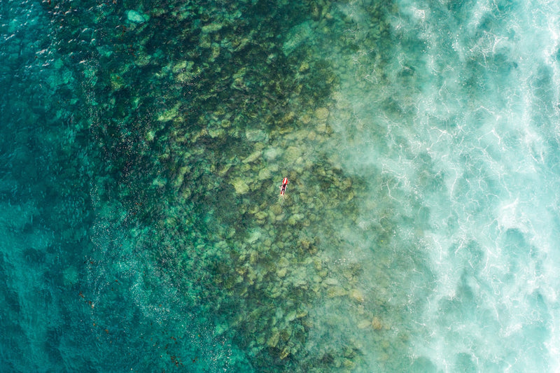 Aerial Fine Art Photography - Lone Surfer