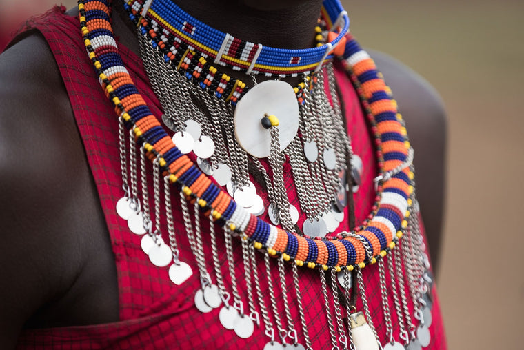 Tribal Fine Art Photography - Maasai Necklace