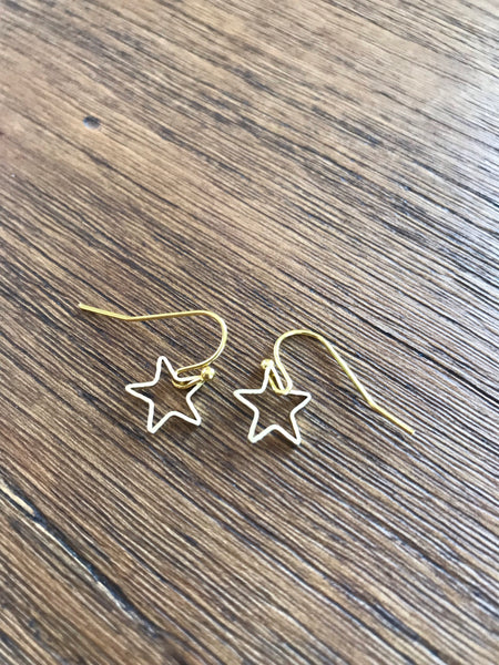 Dainty Star Drop Earrings
