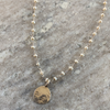 Pearl Rosary w/ Small Silver Medallion