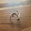 Sterling Moon & Star Ring