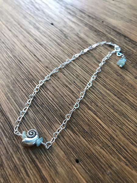 Shell & Seaglass Anklet