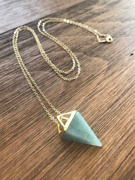 Jade Pyramid Necklace