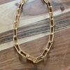 Large Gold Paperclip Chain