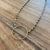 Silver Pyrite Ring Necklace