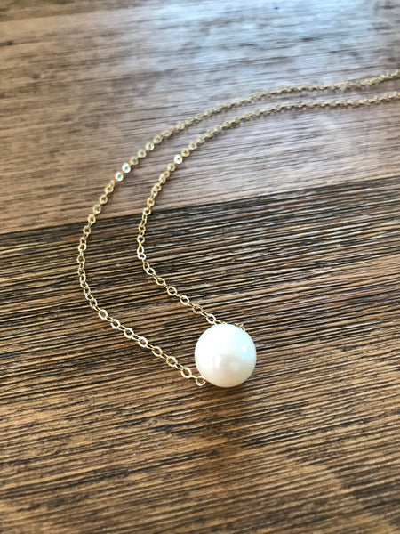 Floating Pearl Necklace - Medium