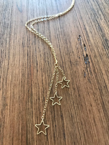 3 Star Tiered Necklace