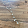 Silver Double Pearl Drop
