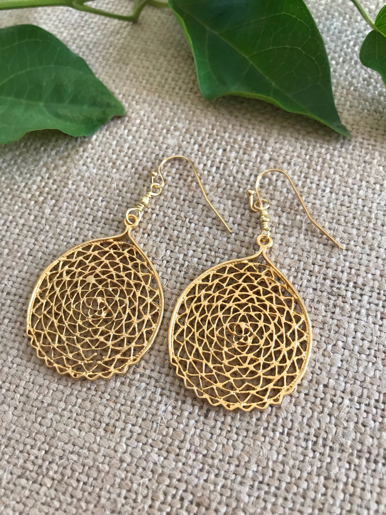 Gold Filigree Earring