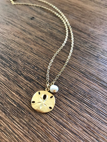 Sand Dollar Pearl Necklace