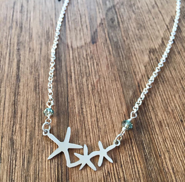 Starfish Trio Necklace