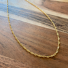 Twisted Gold Rope Necklace