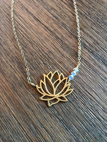 Lotus Crystal Necklace