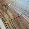 Gold Medallion Detailed Chain