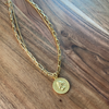 Coin Medallion Layer Necklace