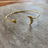 Gold Moon & Star Cuff