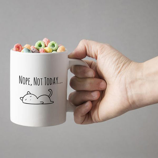 Sleepy Kitty Nope, Not Today Mug