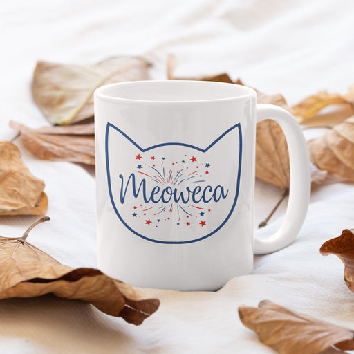 Meowaca Blue Outline Cat Mug