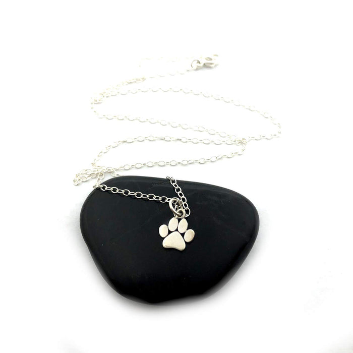Cat Paw Print Pendant Necklace