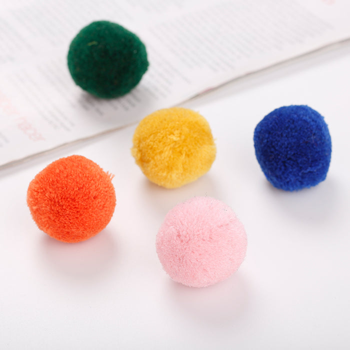 Colorful Soft Wool Cat Ball