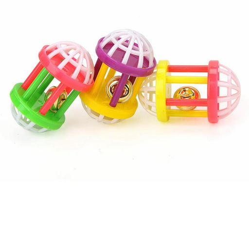 Multicolor Bell Cage Cat Toy - Interactive Teaser Toy for Cats