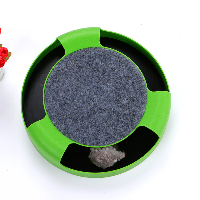 Interactive Mouse Scratching Board Spinning Toy - Eco-friendly Entertaining Scratcher Toy for Cats-HappyFriendy