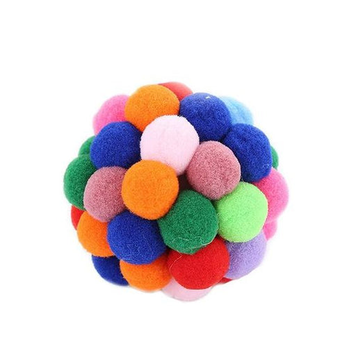Multicolor Interactive Catnip Ball Cat Toy - Plush Eco-Friendly Pet Toy for Cats