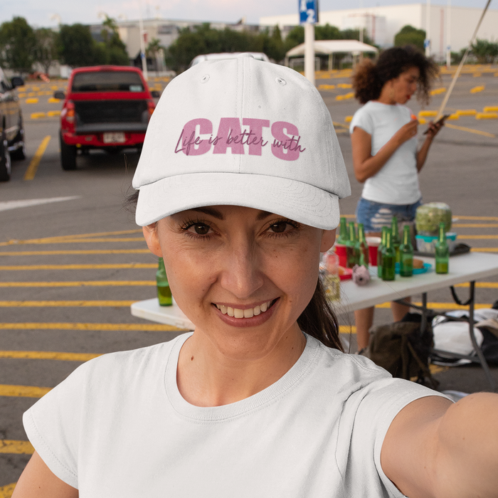 Pink Life is Better with Cats Hat