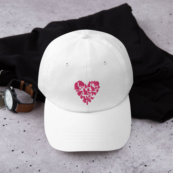 Pink Heart Full of Cats Hat
