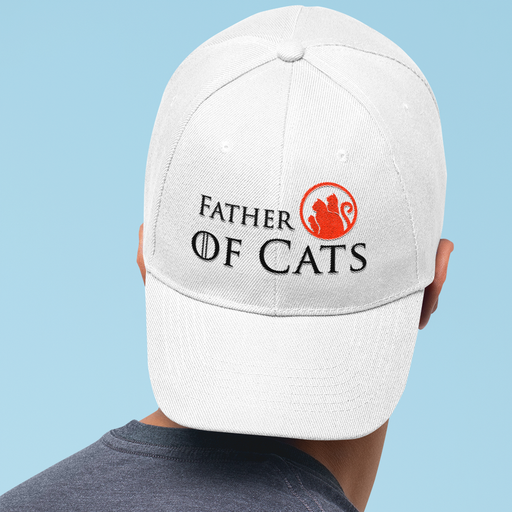 Father of Cats Hat - Black Lettering
