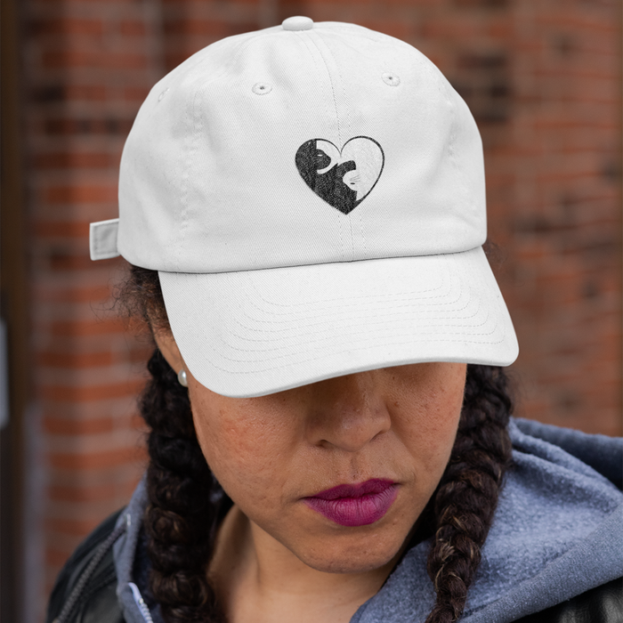 Cat Yin Yang Heart Hat