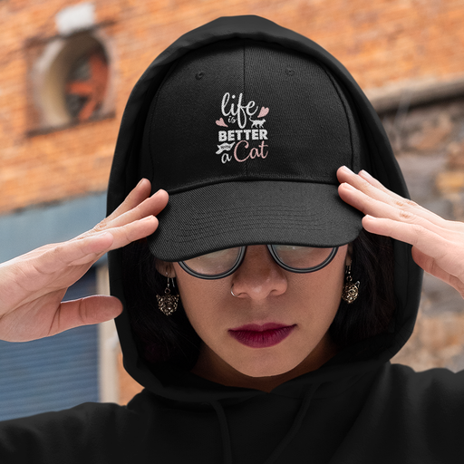Life is Better with a Cat Hat - White Lettering